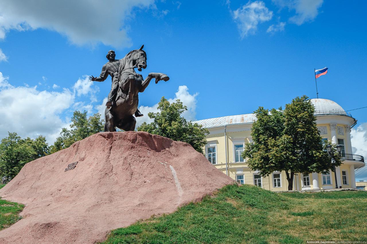 Рязань, памятник Евпатию Коловрату