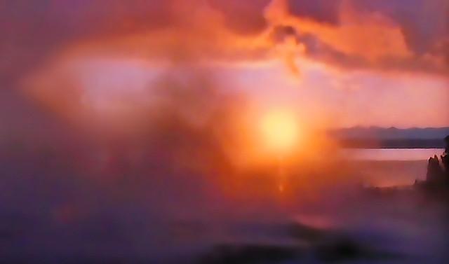 PATAGONIA - Sunset through the fog