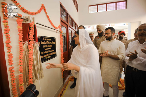 Her Holiness inaugurated the newly constructed Bhawan