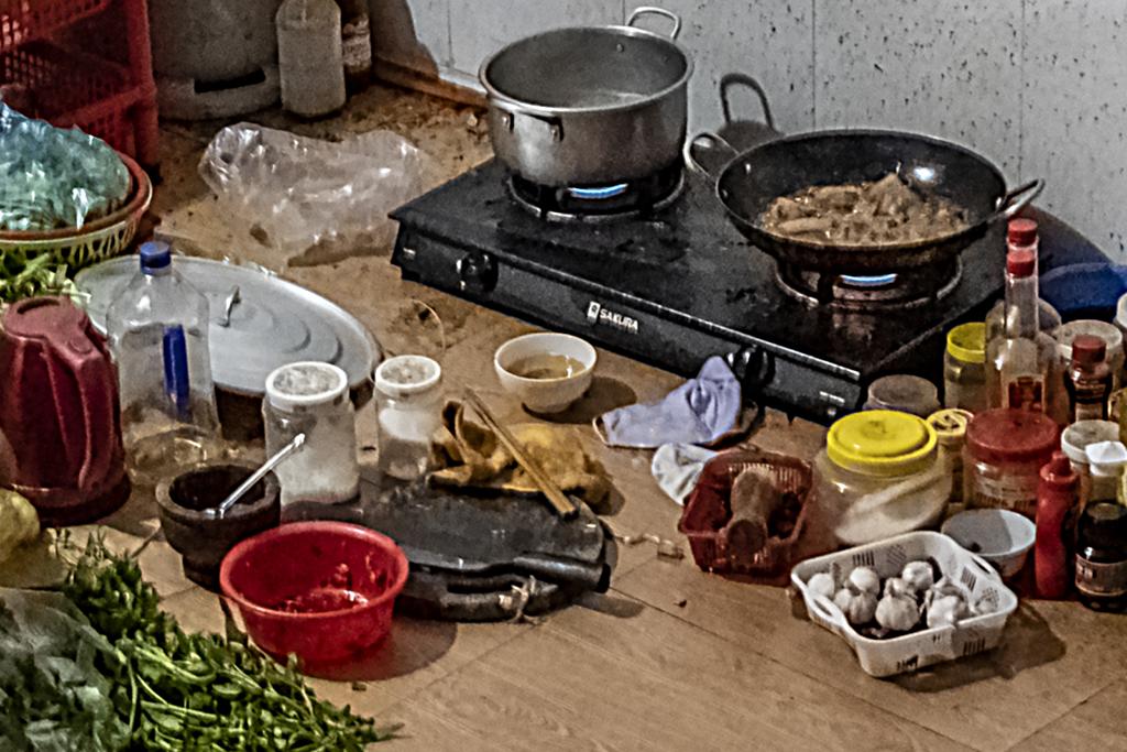 Preparing dinner on 9-18-19--Ea Kly (detail)