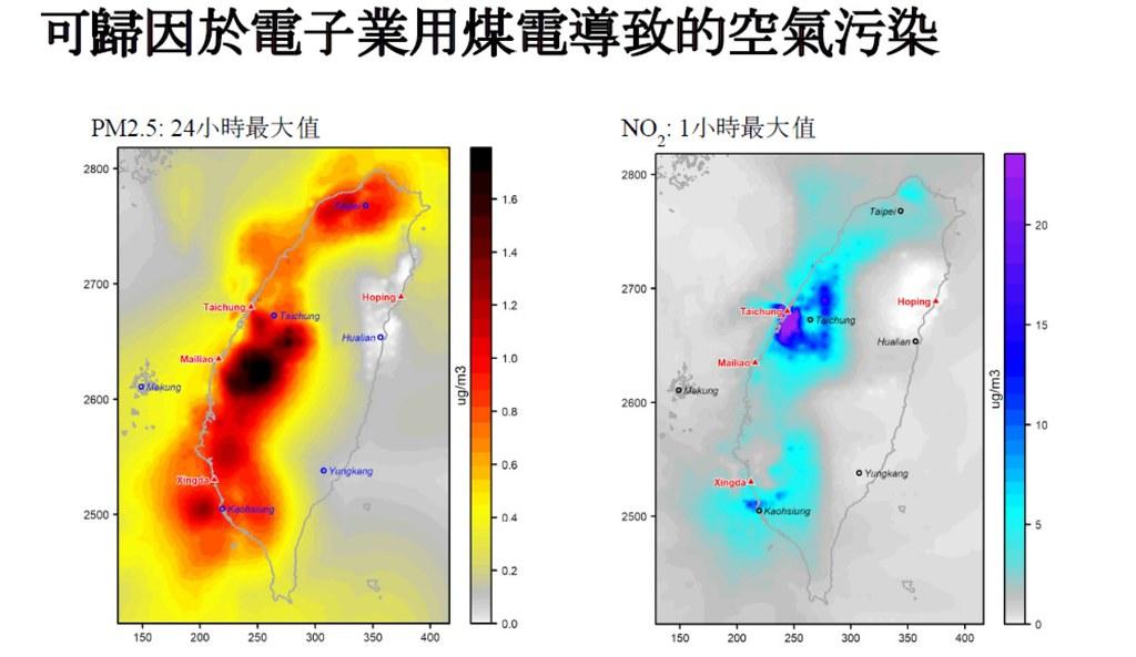 可歸因於電子業用煤電導致的空氣污染。照片來源:綠色和平