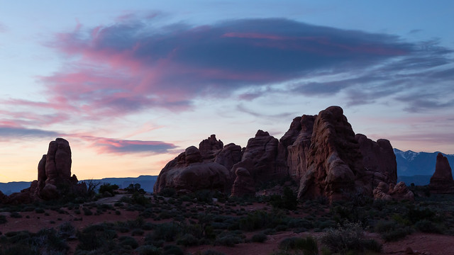 Pink Over the Red Rocks