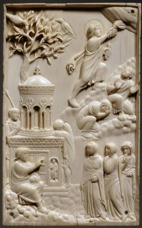 16 Вознесение Господне. Жены-мироносицы у Гроба Господня. Бамбергский аворий.  Рим IV в.