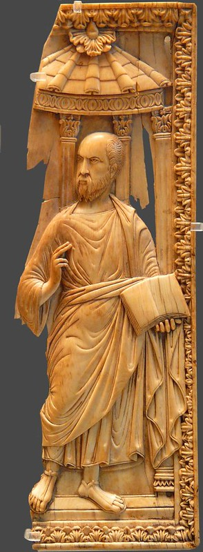 21 ап_Павел   Фрагмент диптиха.  Италия  400-425г. Лувр