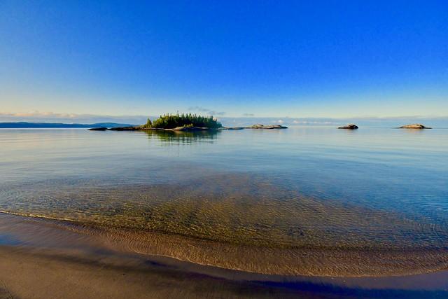 WHITE SANDS BEACH, LAKE SUPERIOR, MICHIPICOTEN FIRST NATION, ON CANADA, NEAR WAWA ONTARIO CANADA and MICHIPICOTEN RIVER VILLAGE ON CANADA, ACA PHOTO
