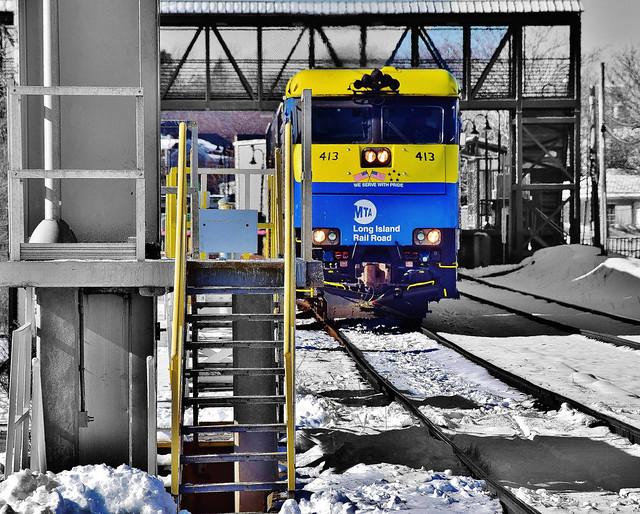 Train B/W Wth Color Flash