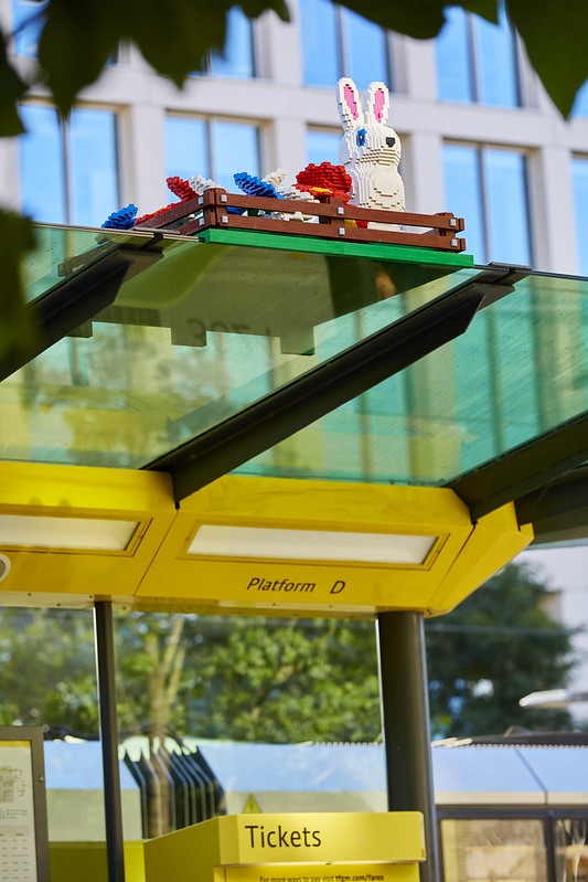 LEGO REBUILDS ICONIC TRAM STOP IN ST. PETER'S SQUARE MANCHESTER 3