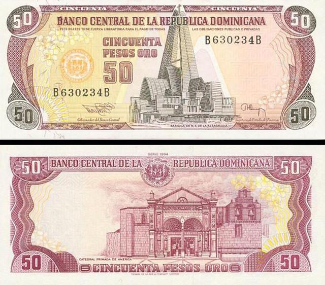 50 Pesos Oro Dominikánska republika 1991 P135
