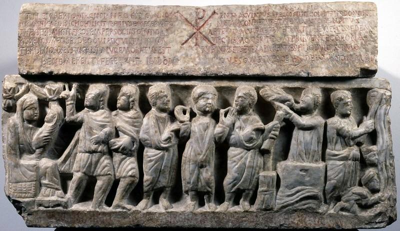 11 Боковой фриз саркофага Феосевия  Рим. IV в