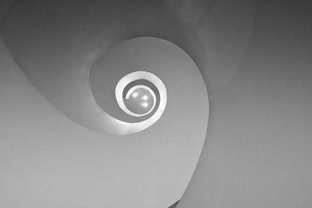 Barneys Spiral Stairs looking Up