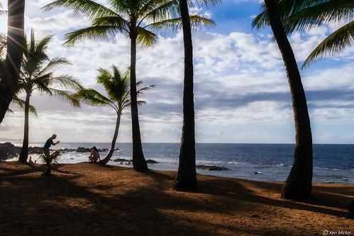 beach coast hawaii kenmickelphotography landscape maui ocean outdoors paia roadtohana shore sky sunstar photography sunburst water unitedstatesofamerica
