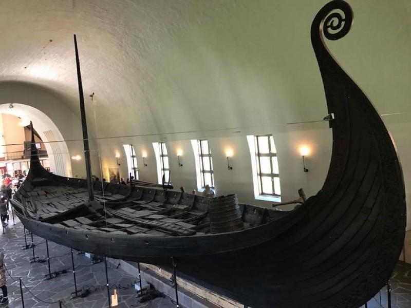 61 Осебергская ладья викингов. IXв. Музей Осло