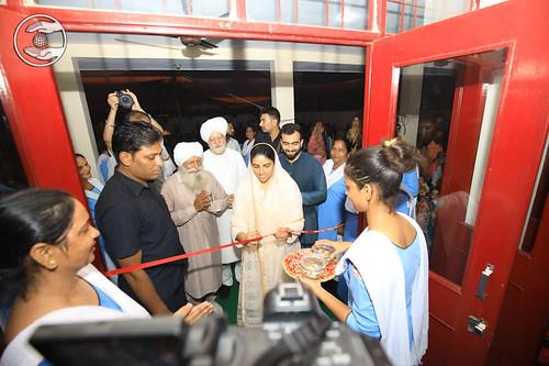 Satguru Mata Ji inaugurating the Satsang Bhawan