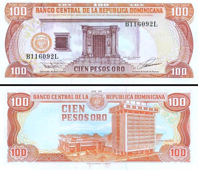 100 Pesos Oro Dominikánska republika 1993 P144