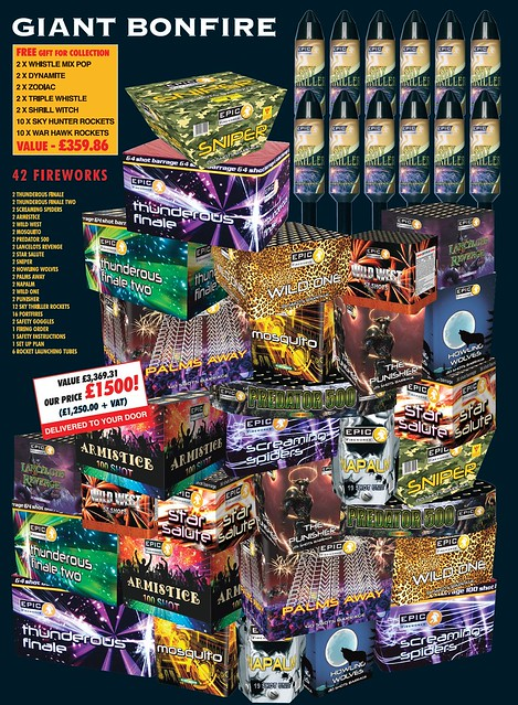 NEW FOR 2019 - Giant Bonfire Fireworks Display Package