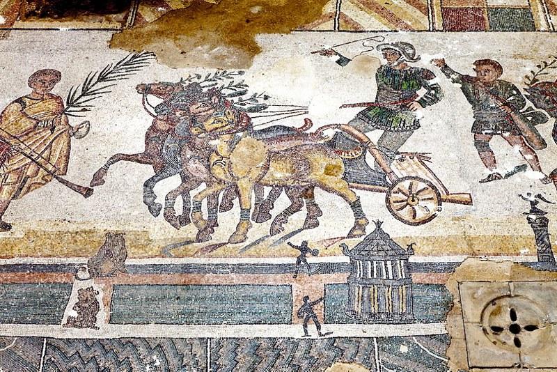 01 Мозаики на вилла Армерина. нач IV в. Сицилия