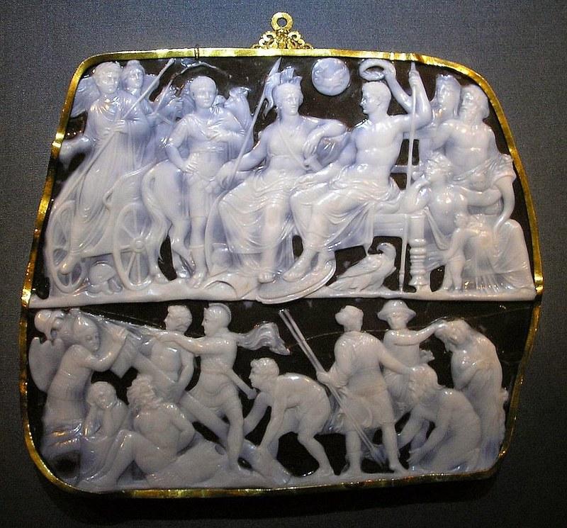 22 Гемма Октавиана Августа I в. Вена Музей истории искусств