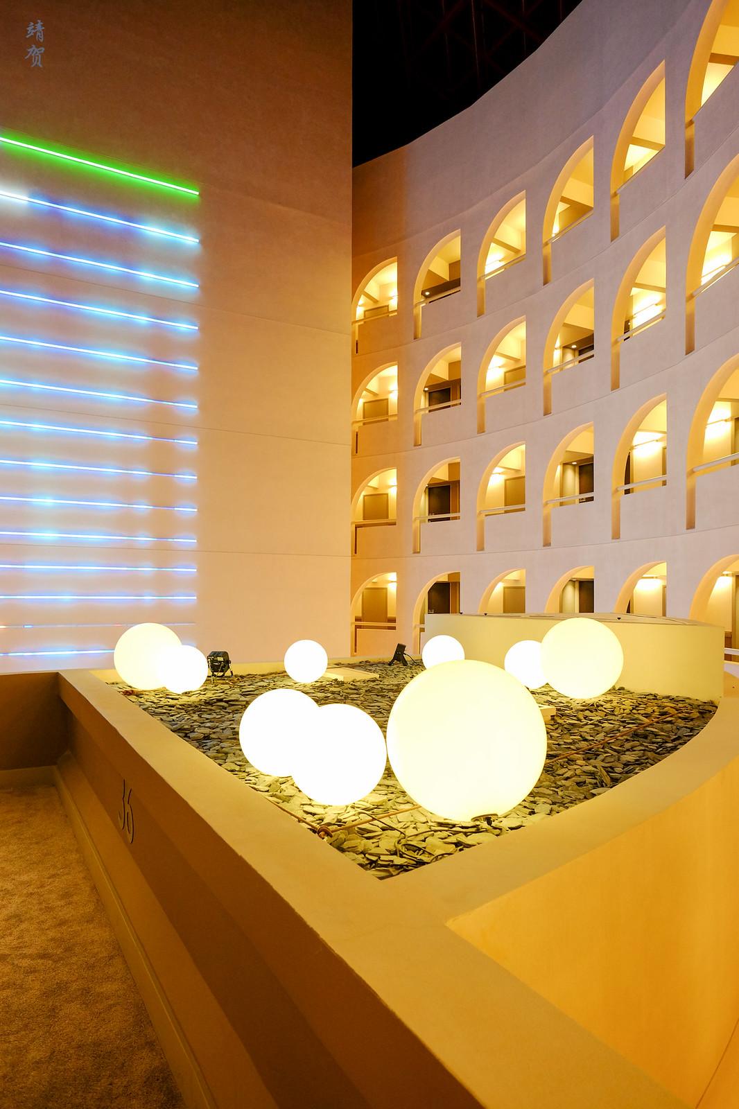 Lights in the atrium