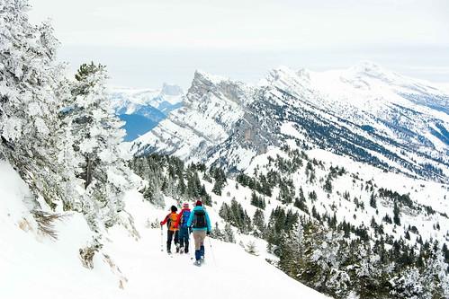 Sneeuwschoen huttentocht, Verwilderen in de Vercors
