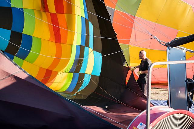 Hot Air Balloon Worker - Del Mar, California