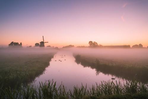 31augustus2019 vijfhuizen augustus augustus2019 mist molen nevel zonsopkomst windmill sunrise