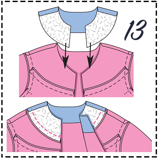 0919 Jacket Sewing Lesson Step 13