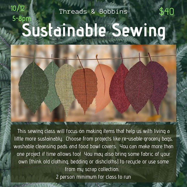Sustainable Sewing - with date