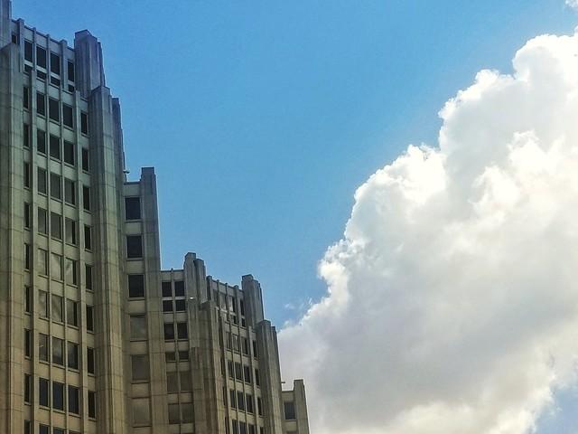#bethesda #maryland #clouds #artdeco #architecture #montgomerycountymd #wisconsinave #bethesdamd #downtown #skyscraper #blue #azul