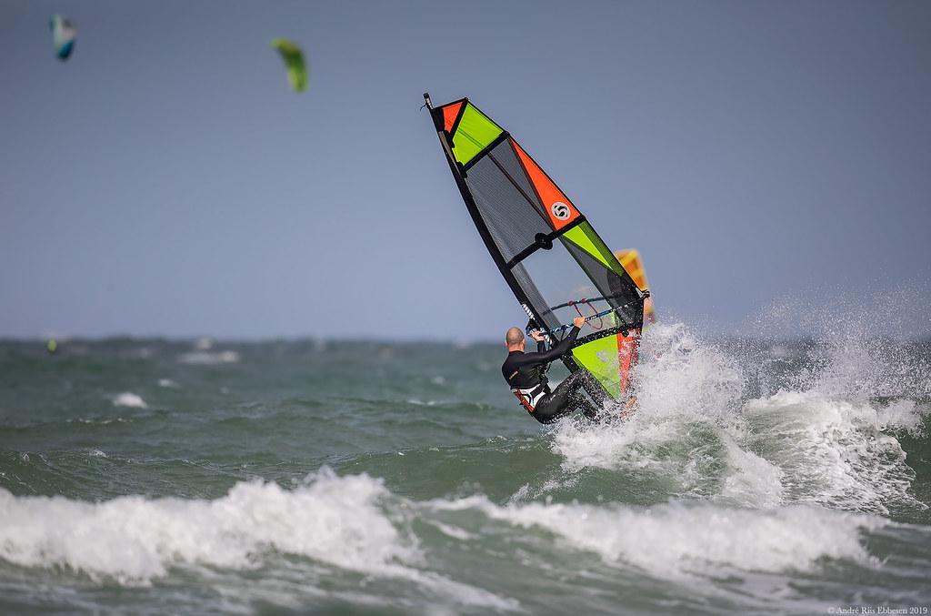 Windsurfer Udsholt Beach, Denmark