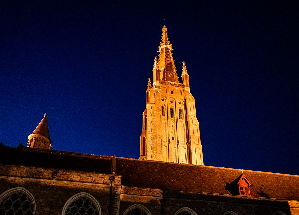 Church of Our Lady at Night - Bruges (High ISO)  (Ricoh GRIII 28mm APS-C Compact) (1 of 1)