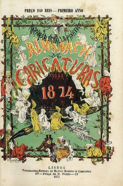 Capa de revista portuguesa do século 19 | 19th century portuguese magazine cover | Portugal 1870s