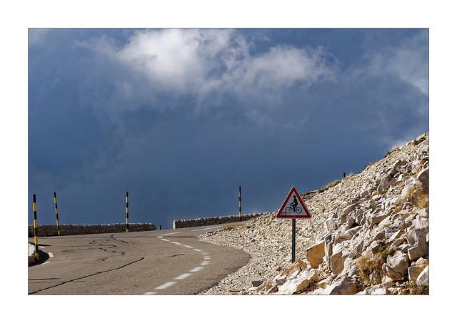 Mont Ventoux - Aufrecht fahren...