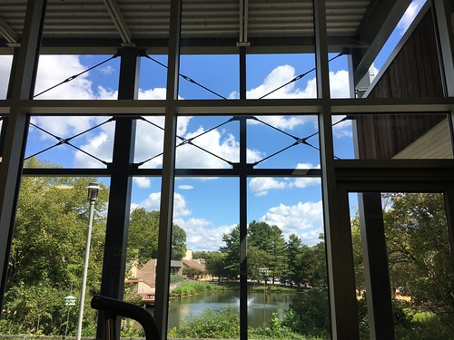 parkschool pikesville maryland fitnessroom viewbeyond ponds trees clouds windows walls hww iphone