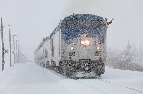 amtrak californiazephyr no5 5 train5 ge p42dc 193 snow wave snowstorm fraser colorado upmoffattunnelsub locomotive passengertrain railroad train co
