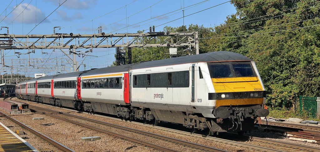 82139. Abellio Greater Anglia DVT heads a down Norwich service out of Colchester, 18th. September 2019 by Crewcastrian