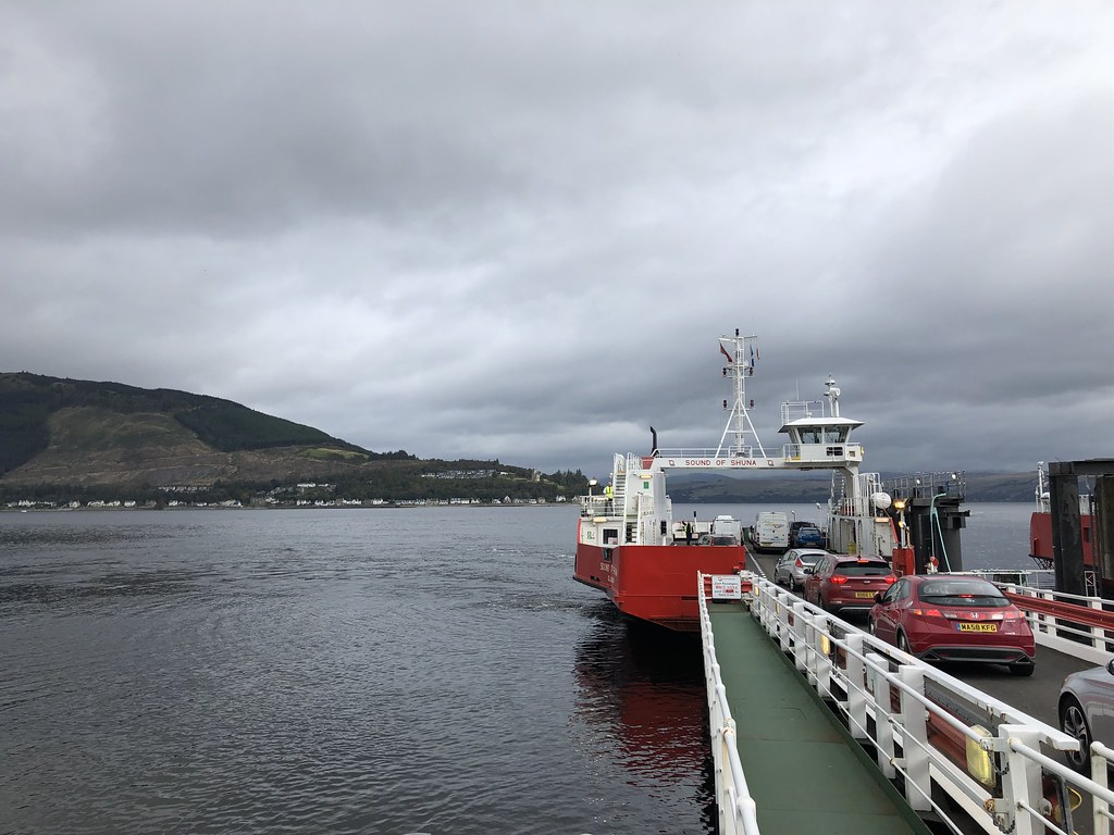 Boarding the Hunters Quay ferry at Dunoon
