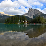 27. August 2019 - 15:36 - Yoho National Park, British Columbia, Canada. This panoramic image was merged with four vertical shots.
