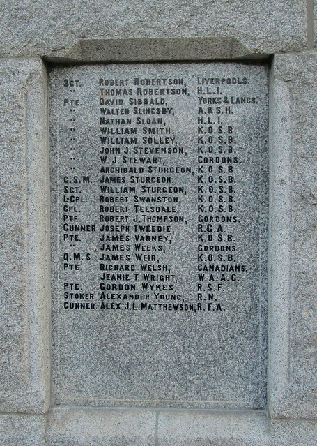 More Great War Names, Dalbeattie War Memorial