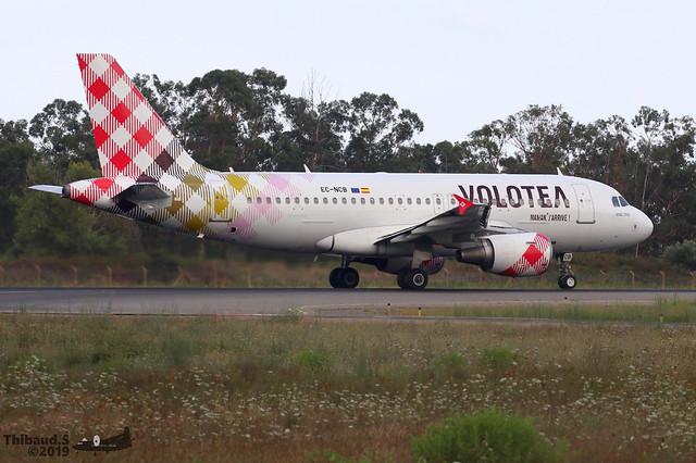 Airbus A319 -111 VOLOTEA EC-NCB 2043 Bastia aout 2019