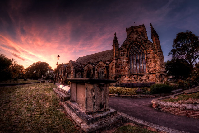 St. Mary's Church Sunset