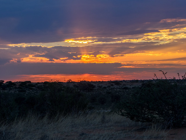 Beautiful sunrise after a rainy night