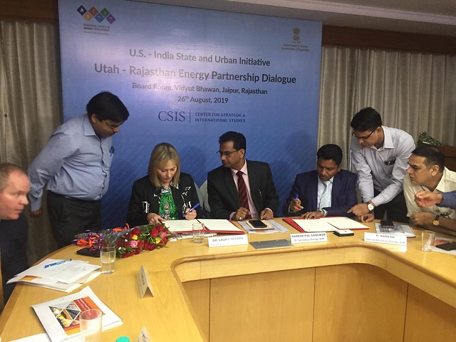 Rajasthan – Utah Energy Partnership Dialogue