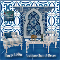 Boco Lobo Arabian Chair Backdrop & Decor
