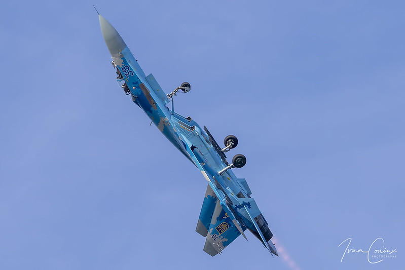 Sukhoi Su-27 – Ukraine-Air Force – 39 – Kleine Brogel (EBBL) – 2019 09 14 – Inflight – 02 – Copyright © 2019 Ivan Coninx