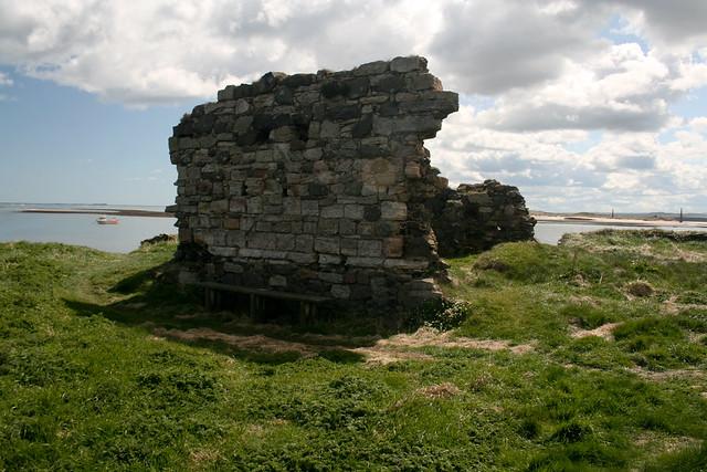 Lindisfarne Priory remains