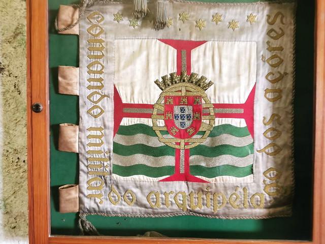 Escudo del Comando Militar de Azores Museo Militar Forte de Sao Bras Ponta Delgada Isla San Miguel Azores Portugal 02
