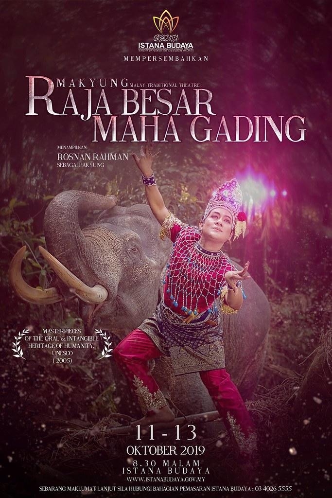 Teater Makyung Raja Besar Maha Gading Bakal Dipentaskan di Istana Budaya
