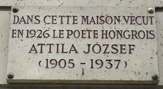 Attila József plaque - 4 rue de Vieux Colombier, Paris 6th arr