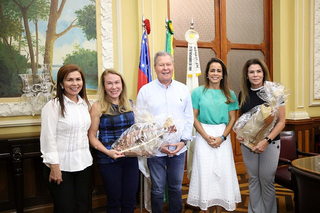 18.09.2019 Prefeito no encontro com Tereza Surita Prefeita de Boa Vista