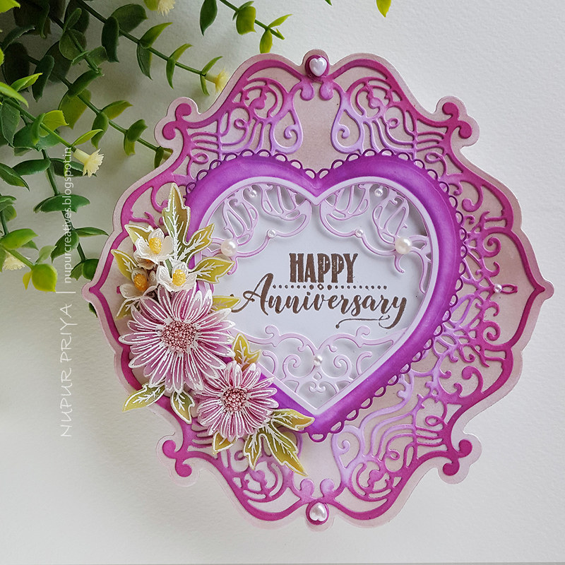 Easy Shaped Card with Asters_Nupur Priya_01